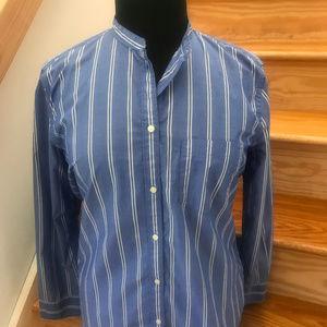"""GAP """"Love"""" Mandarin Collar Button Down Shirt"""